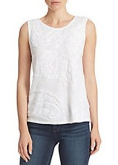 LUCKY BRAND Embroidered Paisley Top