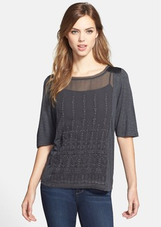 Lucky Brand Embroidered Panel Top