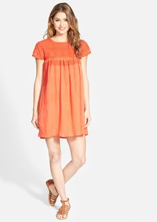 Lucky Brand Embroidered Shift Dress