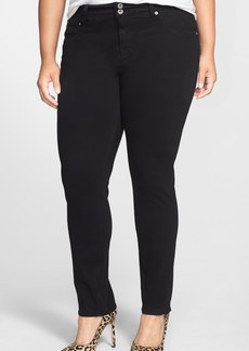 Lucky Brand 'Emma' Straight Leg Jeans (Black) (Plus Size)