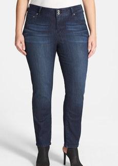 Lucky Brand 'Emma' Stretch Straight Leg Jeans (Cat's Eye) (Plus Size)