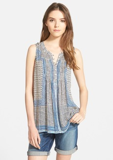 Lucky Brand 'Endless' Print Split Neck Tank