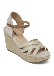 Lucky Brand Espadrille Wedge Sandals - Mahima Metallic