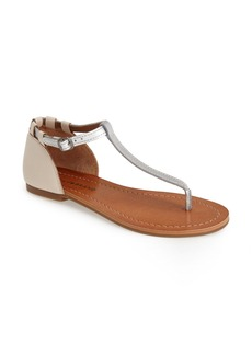 Lucky Brand 'Ezzra' T-Strap Leather Sandal (Women)