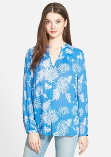 Lucky Brand Field Print Peasant Top