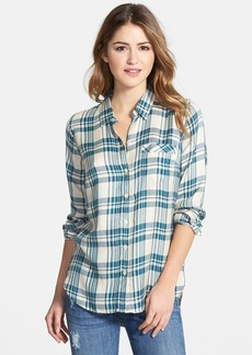 Lucky Brand Flannel Boyfriend Shirt