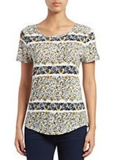 LUCKY BRAND Floral Hi-Lo Top