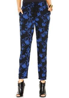 Lucky Brand Floral-Print Straight-Leg Soft Pants