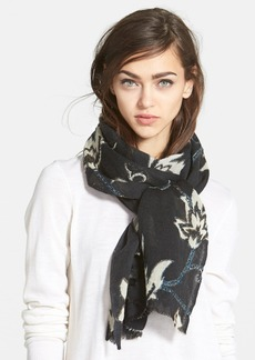 Lucky Brand 'Floral Vine' Wool Scarf