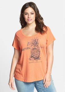 Lucky Brand 'Forbidden Fruit' Scoop Neck Tee (Plus Size)