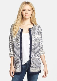 Lucky Brand Fringed Sweater Coat