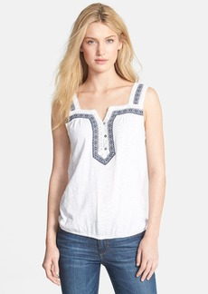 Lucky Brand 'Galena' Embroidered Lace Trim Tank