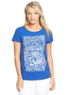 Lucky Brand 'Ganesh' Open Back Graphic Tee
