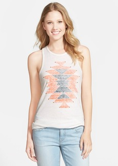 Lucky Brand 'Geo Carpet' Studded Print Tank Top