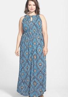 Lucky Brand 'Goddess' Print Maxi Dress (Plus Size)
