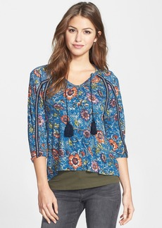 Lucky Brand 'Halle' Floral Print Top