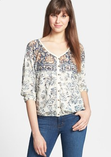 Lucky Brand 'Hannah' Peasant Top