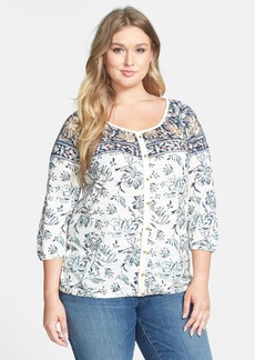 Lucky Brand 'Hannah' Peasant Top (Plus Size)