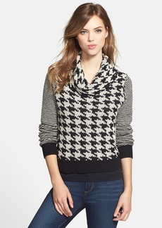 Lucky Brand Houndstooth Cowl Neck Sweater