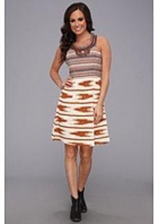 Lucky Brand Ikat Embellished Dress