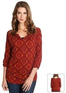 Lucky Brand® Ikat Printed Knit Top