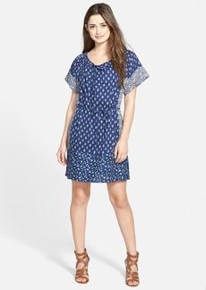 Lucky Brand Indigo Floral Cotton Dress