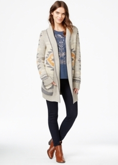 Lucky Brand Intarsia Long-Sleeve Cardigan