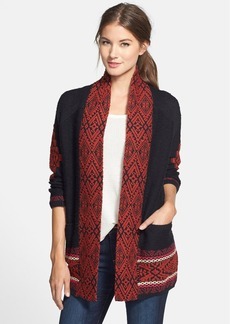 Lucky Brand Jacquard Sweater Coat