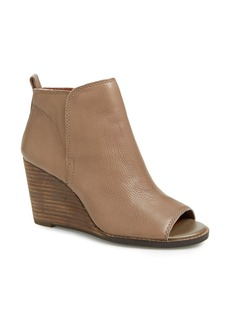 Lucky Brand 'Jagurr' Open Toe Wedge Bootie (Women)