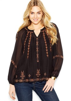 Lucky Brand Jeans Embroidered Peasant Tunic