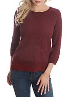 LUCKY BRAND Knit Mixed Media Sweater
