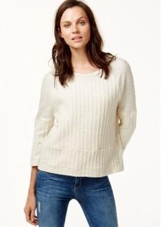 Lucky Brand Knit Paneled Sweatshirt