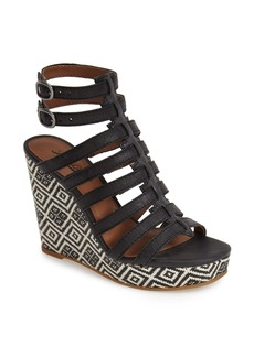 Lucky Brand 'Labelle' Caged Wedge Platform Sandal (Women)