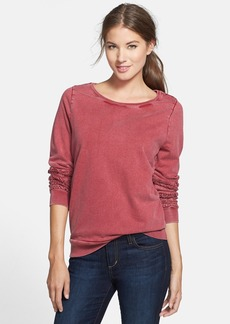 Lucky Brand Lace Inset Cotton Pullover