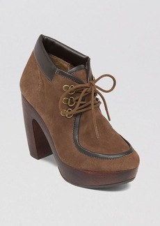Lucky Brand Lace Up Chukka Platform Booties - Cendara High Heel
