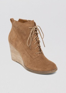 Lucky Brand Lace Up Wedge Booties - Yoanna