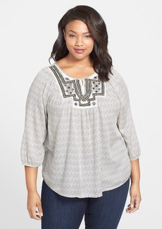 Lucky Brand 'Lilah Mirror' Top (Plus Size)