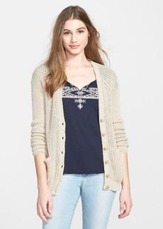 Lucky Brand Linen V-Neck Cardigan