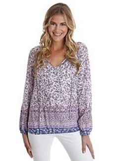 Lucky Brand® Long Sleeve Boarder Print Top