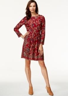 Lucky Brand Long-Sleeve Printed Dress