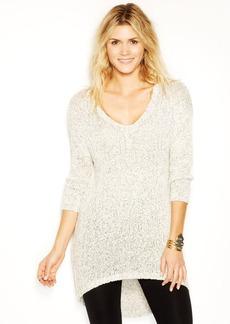 Lucky Brand Long-Sleeve V-Neck Marled-Knit Tunic
