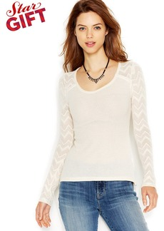 Lucky Brand Long-Sleeve Waffle-Knit Thermal Top