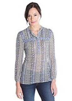 Lucky Brand® Long Sleeve Woven Peasant Top