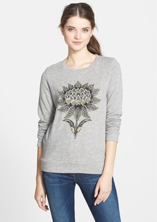 Lucky Brand 'Lotus Flower' Cotton Pullover