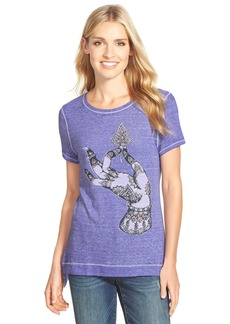 Lucky Brand 'Lotus Hand' Graphic Print Tee