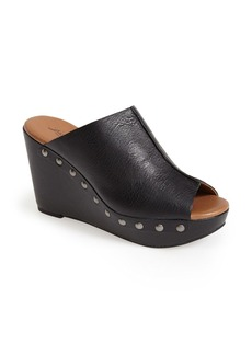 Lucky Brand 'Lucky Malayah' Leather Wedge Sandal (Women)