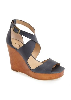 Lucky Brand 'Lyndell' Leather Wedge (Women)