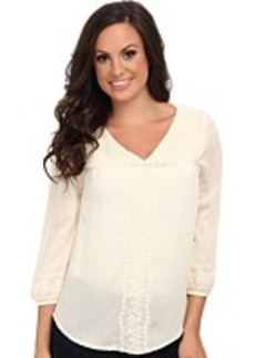 Lucky Brand Madelynn Embroidered Top