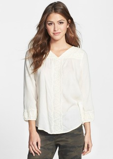 Lucky Brand 'Madelynn' Embroidered Top