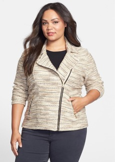 Lucky Brand Marled Moto Sweater (Plus Size)